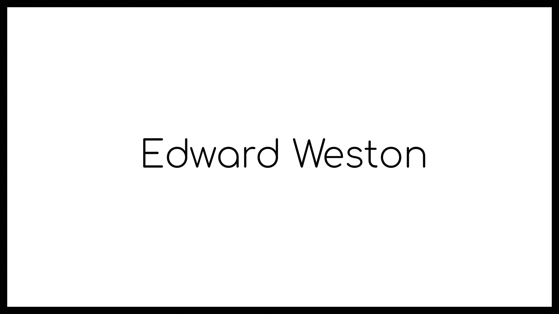 Loomen Studio Web Agency Sala Posa Fotografia Photomonographs Edward Weston
