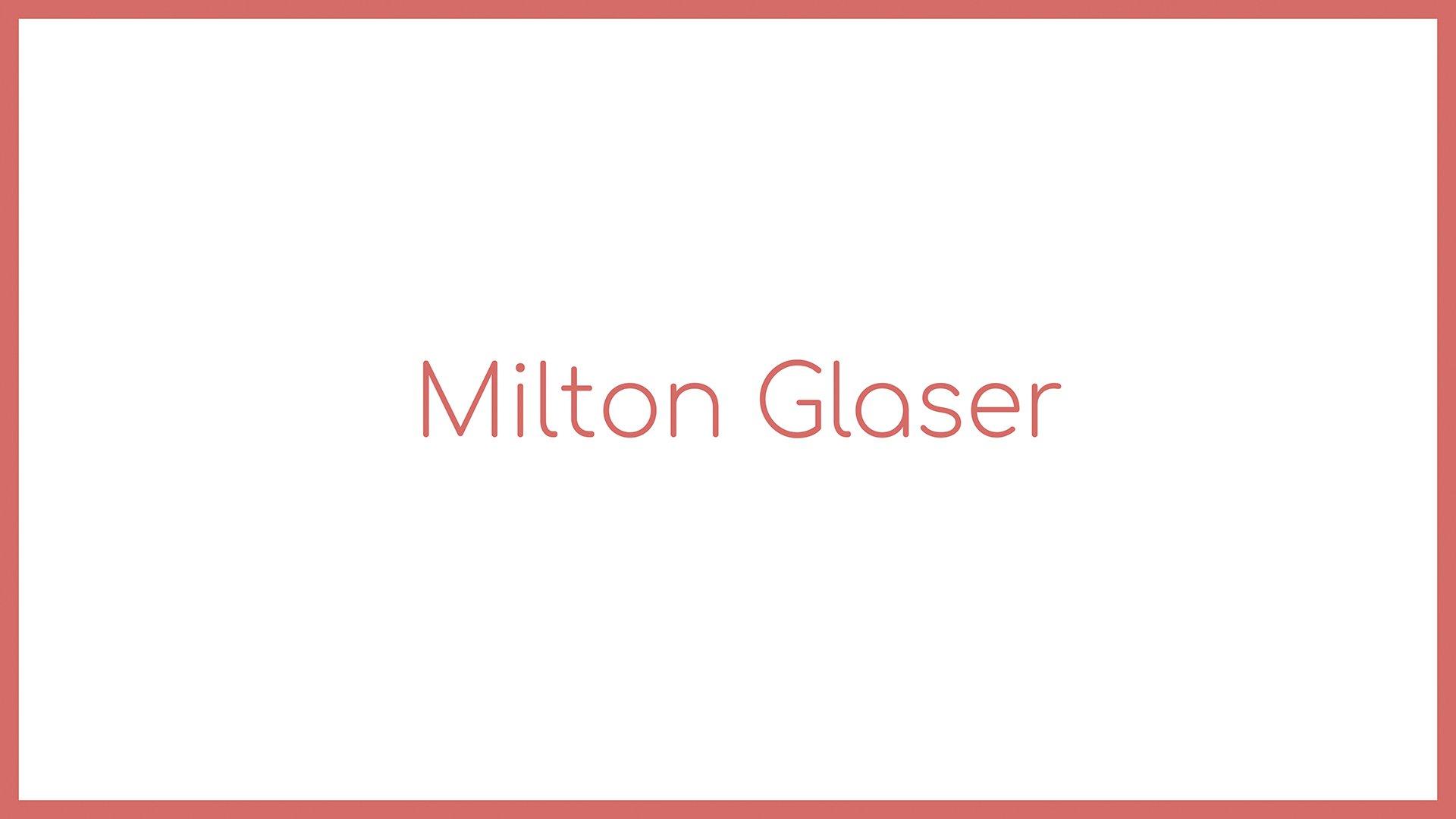 Loomen Studio Web Agency Sala Posa Graphic Design Monografia Milton Glaser