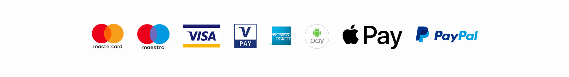 Pagamenti accettati Loomen - Mastercard Maestro Visa VPay American Express Android Pay Apple Pay Paypal